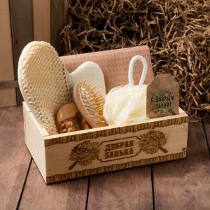 Подарочный набор в ящике «Добрая банька»