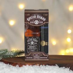 Мужской подарочный набор «Гель для душа виски, платок-сигара»