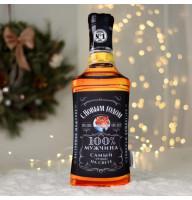 Подушка-антистресс в форме бутылки виски «С новым годом»