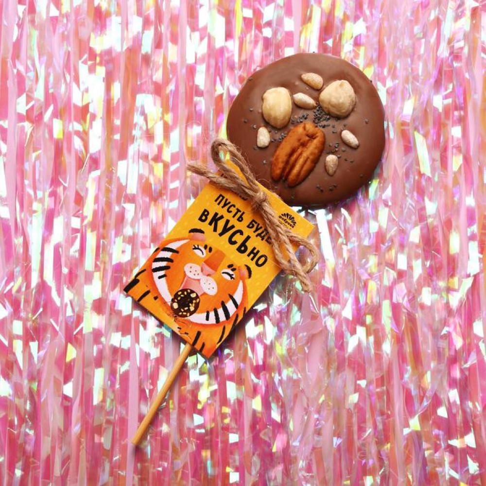 Шоколадный медиант «Пусть будет вкусно» на палочке