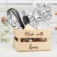 Кухонный набор в ящике «Made with love»