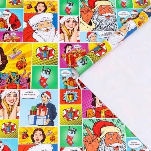 Бумага для упаковки подарка «Pop-art»